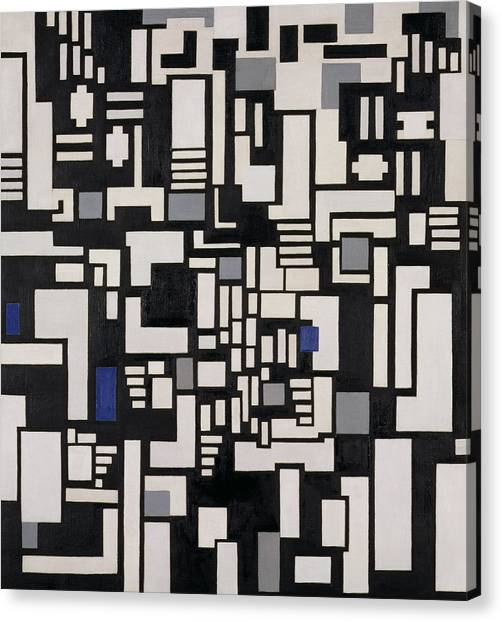 De Stijl Canvas Print - Composition Ix by Theo Van Doesburg