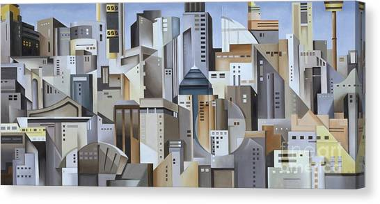 Cubism Canvas Print - Composition Looking East by Catherine Abel