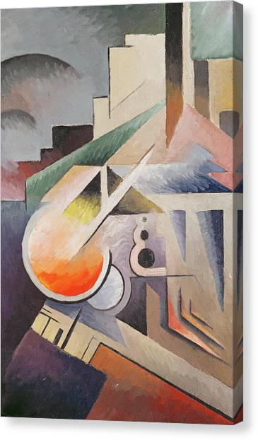 Abstract Art Canvas Print - Composition by Viking Eggeling