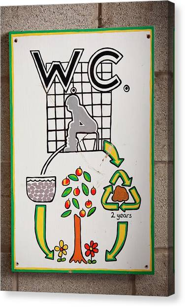 Local Food Canvas Print - Composting Toilet by Ashley Cooper