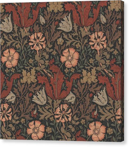 Art Nouveau Canvas Print - Compton Design by William Morris