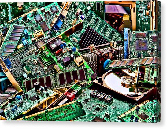Computer Parts Canvas Print