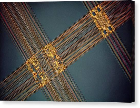 Computer Science Canvas Print - Computer Ram Module by Antonio Romero