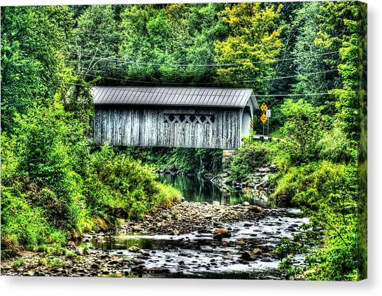 Comstock Covered Bridge Canvas Print