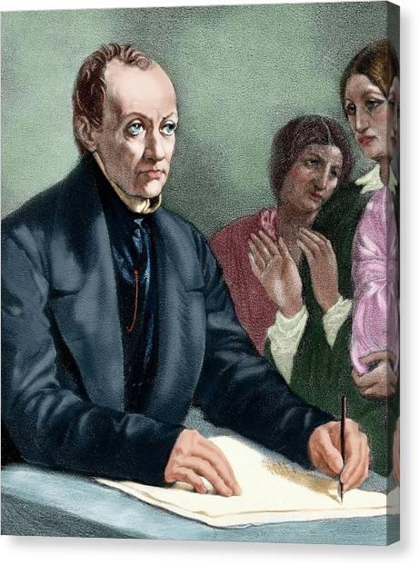 Prisma Colored Pencil Canvas Print - Comte, Auguste (montpellier by Prisma Archivo