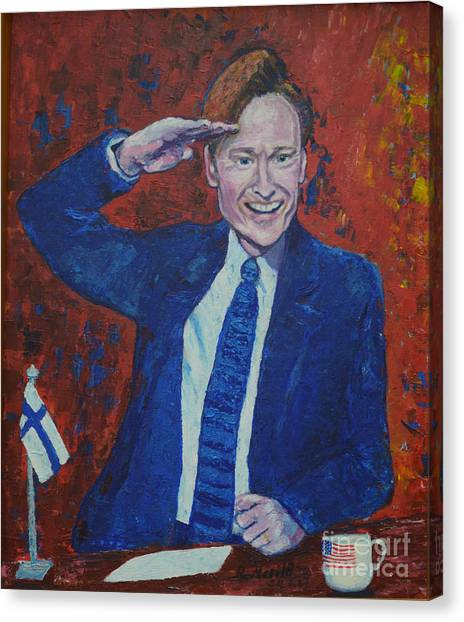 Conan O'brien Flagging Finland Canvas Print