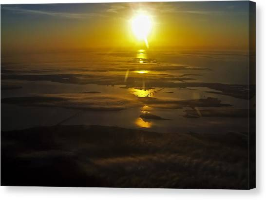Conanicut Island And Narragansett Bay Sunrise II Canvas Print