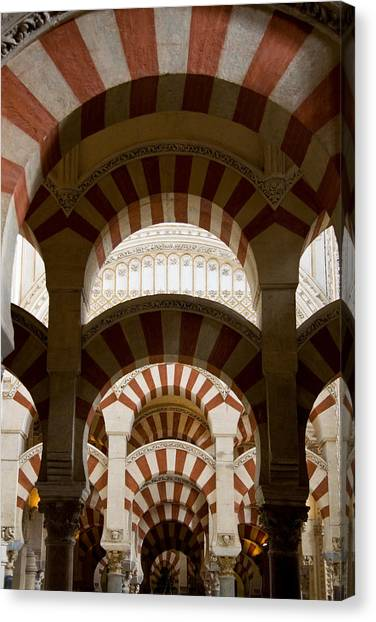 Concentric Arabic Arches Canvas Print