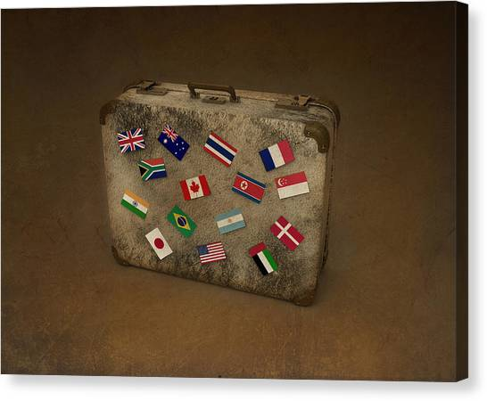 Conceptual Illustration Of Global Business Travel Canvas Print by Fanatic Studio / Science Photo Library