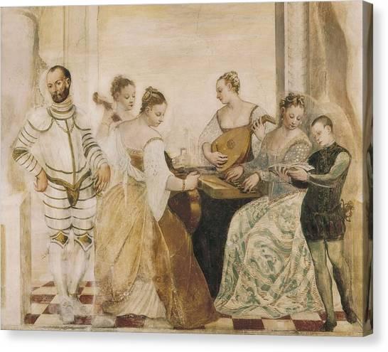 Harpsichords Canvas Print - Concert 16th C.. Renaissance Art by Everett