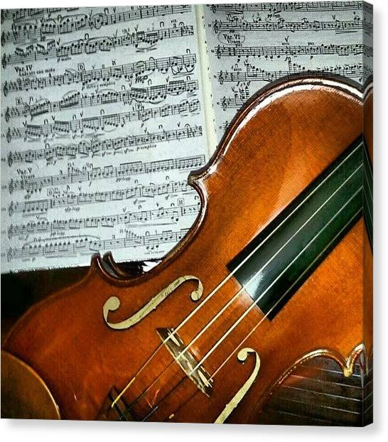 Violins Canvas Print - #concert  #music #violin #famous by Thays S