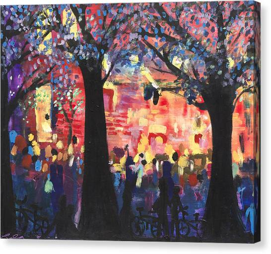 Concert On The Mall Canvas Print