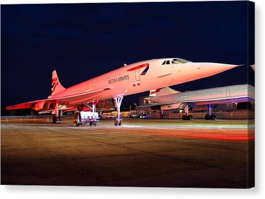 Concorde On Stand Canvas Print