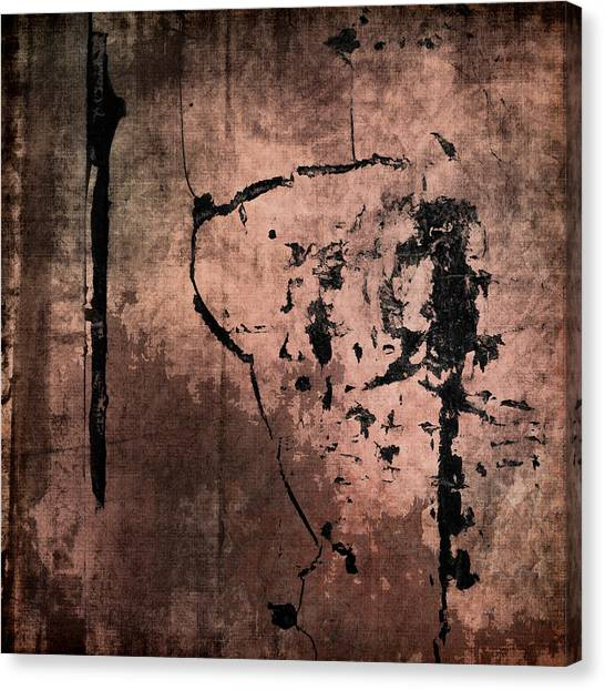 Cement Canvas Print - Concrete And Silk by Carol Leigh