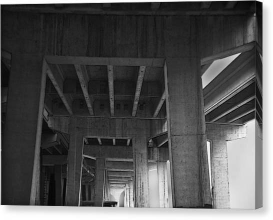 Concrete Cathedral Canvas Print by Larry Butterworth