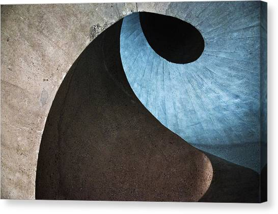 Spiral Canvas Print - Concrete Wave by Linda Wride