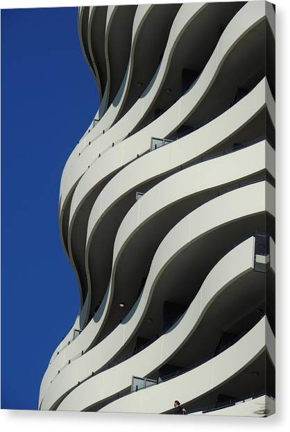 Concrete Waves Canvas Print