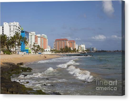 Canvas Print featuring the photograph Condado Beach San Juan Puerto Rico by Bryan Mullennix
