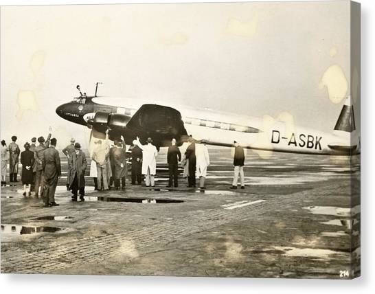 Condors Canvas Print - Condor Aircraft Before Take-off by Eye On The Reich: German Propaganda Photographs/new York Public Library