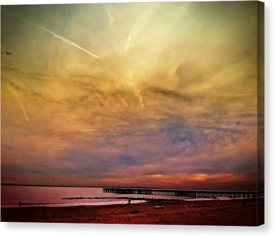 Coney Island After Sandy Canvas Print