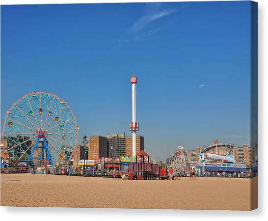 Coney Island Astroland Canvas Print