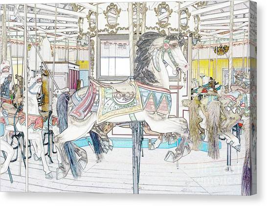 Coney Island Carousel Canvas Print