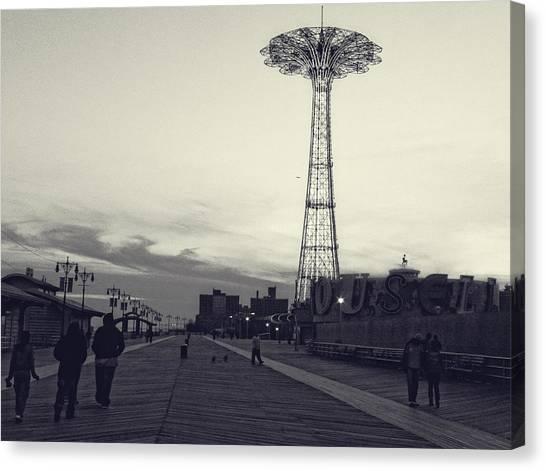 Coney Island Dusk Canvas Print