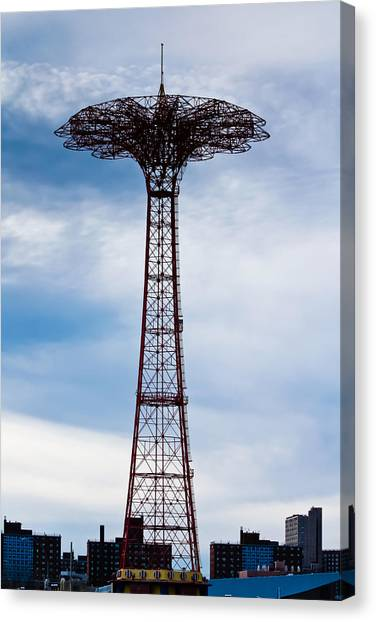 Coney Island Parachute Jump Canvas Print