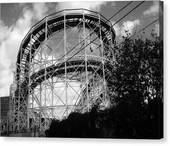 Coney Island Roller Coaster Canvas Print