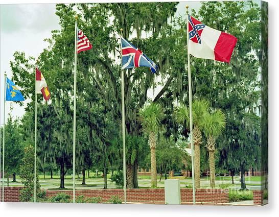 Confederate - Flags Of My Ancestors Canvas Print by Wayne Nielsen
