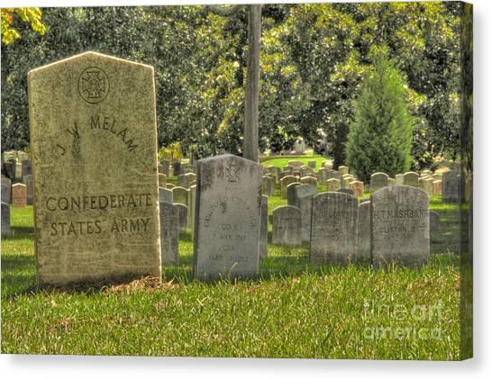 Confederate Graves Canvas Print