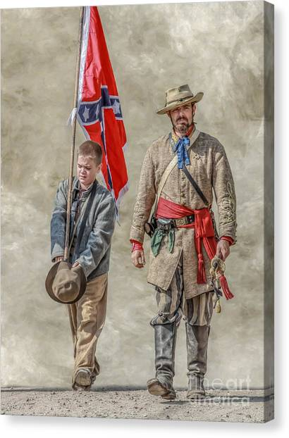 Confederate Army Canvas Print - Confederate Sons by Randy Steele