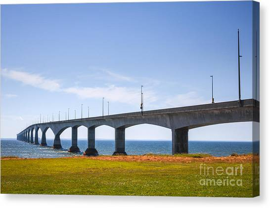 Prince Edward Island Canvas Print - Confederation Bridge by Elena Elisseeva