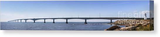 Prince Edward Island Canvas Print - Confederation Bridge Panorama by Elena Elisseeva