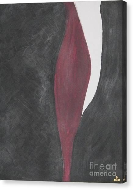 Canvas Print featuring the painting Confidence by Ilona Svetluska