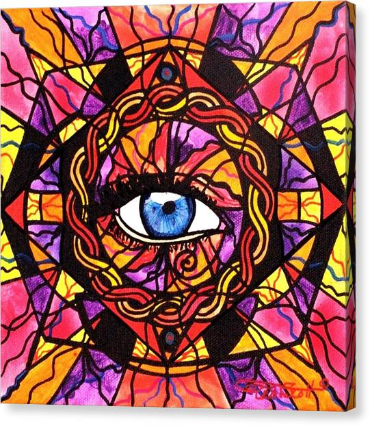 Mandala Canvas Print - Confident Self Expression by Teal Eye  Print Store