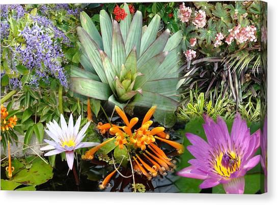 Confluent Flowers 5 Canvas Print