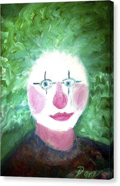 Confounded Clown Canvas Print by Dane Ann Smith Johnsen