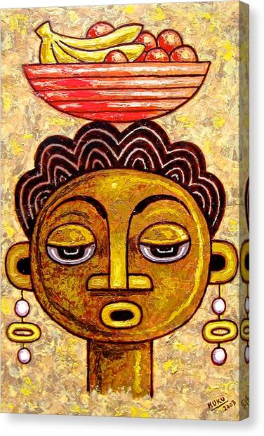 Congalese Face 1 Canvas Print