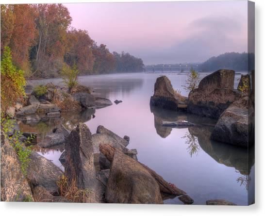Congaree River At Dawn-1 Canvas Print