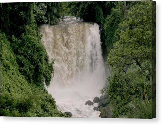 Congo River Canvas Print - Congo River Waterfall Congo Is Between 4 344-4700 Km by Navin Joshi