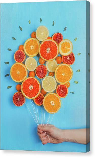 Congratulations On Summer! Canvas Print by Dina Belenko