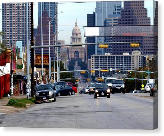 Congress Ave To The Capital Canvas Print