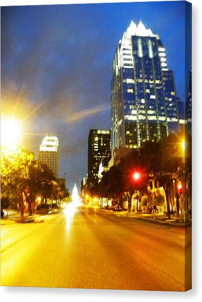 Congress Boulevard Austin Canvas Print