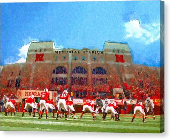 University Of Nebraska Canvas Print - Conhusker Nation by John Farr