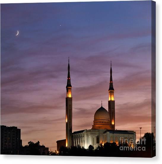 Emir Canvas Print - Conjunction Of Moon & Venus by Babak Tafreshi