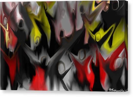 Conjuring Canvas Print by Karunita Kapoor