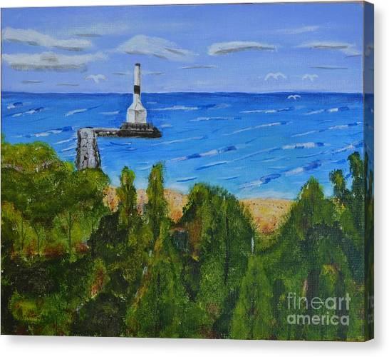 Summer, Conneaut Ohio Lighthouse Canvas Print