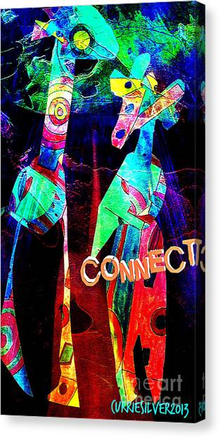Connect Canvas Print by Currie Silver