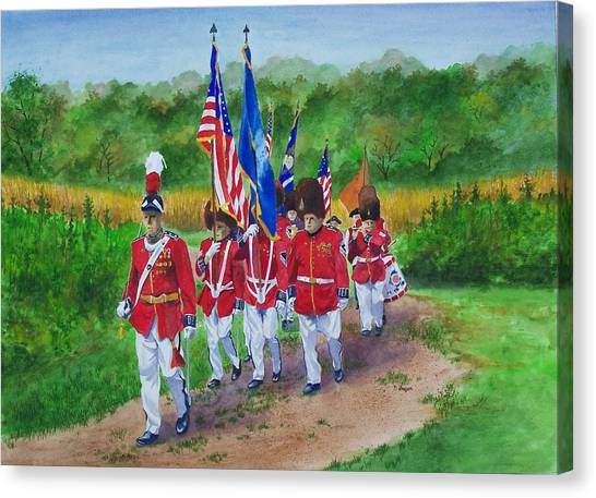 Connecticut Governor's Foot Guard Canvas Print